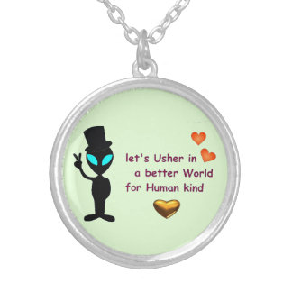 Adorable Alien Peace Call Pendant