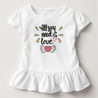 Adorable All You Need is Love | Ruffle Tee