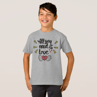 Adorable All You Need is Love Tagless Shirt