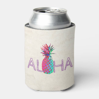 Adorable Aloha Hawaiian Pineapple Can Cooler