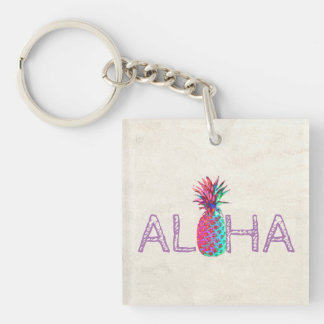 Adorable Aloha Hawaiian Pineapple Key Ring