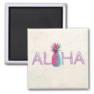 Adorable Aloha Hawaiian Pineapple Magnet