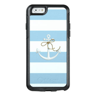 Adorable Anchor on Light Blue and White Stripes OtterBox iPhone 6/6s Case