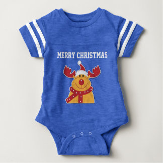 Adorable and Sporty Rudolph and Merry Chritstms Baby Bodysuit