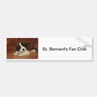 Adorable and Sweet St. Bernard Puppy Bumper Sticker