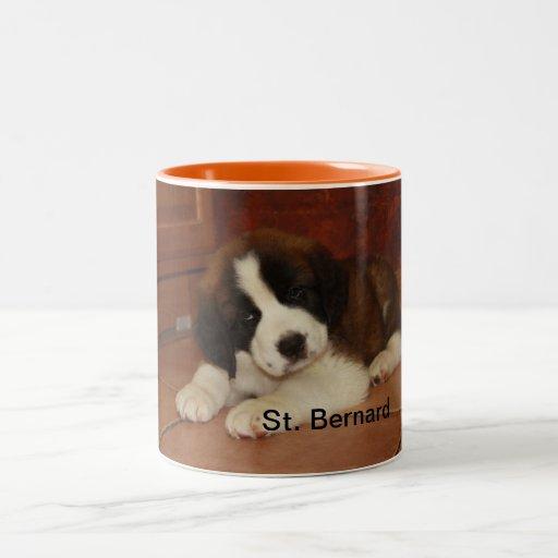 Adorable and Sweet St. Bernard Puppy Mugs