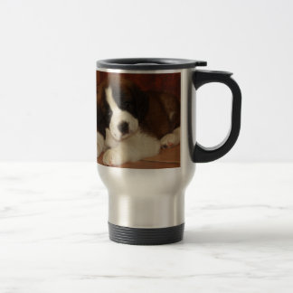 Adorable and Sweet St. Bernard Puppy Mug