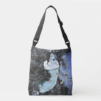 Adorable Artistic Sheltie In Festive Stocking Crossbody Bag