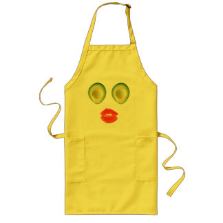 Adorable Avocado Visage for Rosa Long Apron