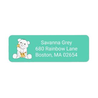 Adorable Baby Bear and Giraffe Address Return Address Label