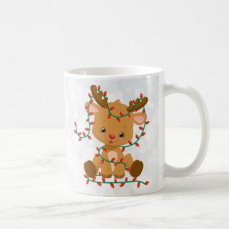 Adorable Baby Reindeer with a Christmas Wish Coffee Mug