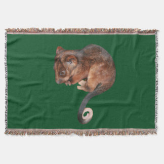 Adorable Baby Ringtail Possum in Australia Throw Blanket