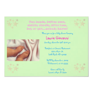 Adorable Baby Shower Invitation/Announcement Card