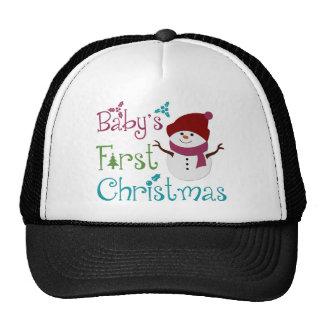 Adorable Babys First Christmas Mesh Hats
