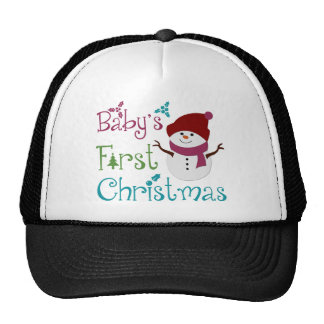 Adorable Babys First Christmas Trucker Hat