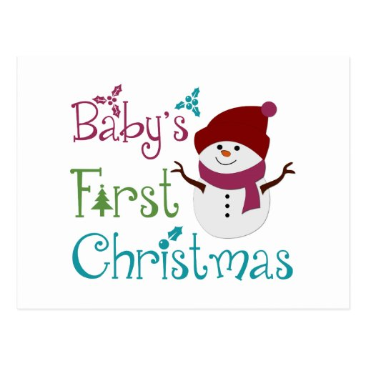 Adorable Babys First Christmas Post Cards