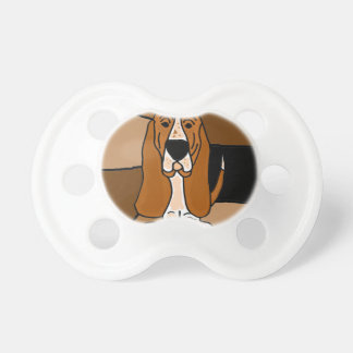 Adorable Basset Hound Dog Art Abstract Baby Pacifiers