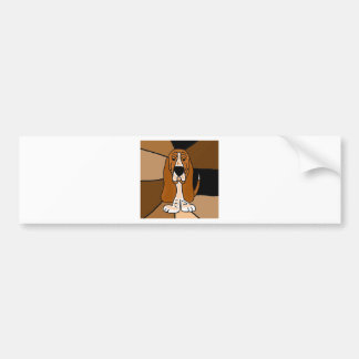Adorable Basset Hound Dog Art Abstract Bumper Sticker