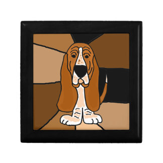 Adorable Basset Hound Dog Art Abstract Gift Box