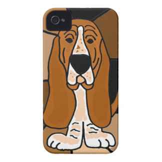 Adorable Basset Hound Dog Art Abstract iPhone 4 Covers