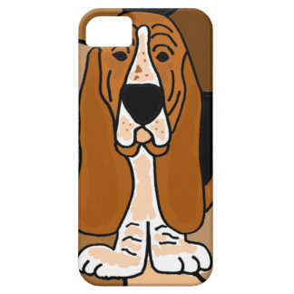 Adorable Basset Hound Dog Art Abstract iPhone 5 Cover