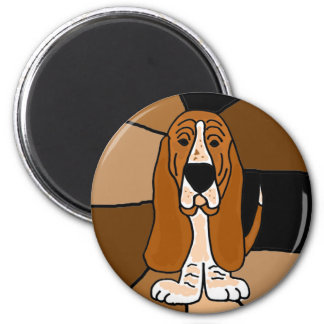 Adorable Basset Hound Dog Art Abstract Magnet