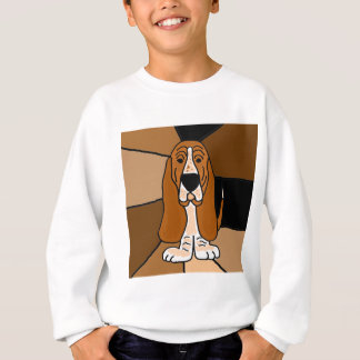 Adorable Basset Hound Dog Art Abstract Sweatshirt
