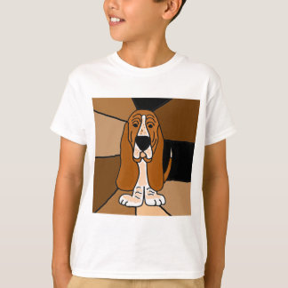 Adorable Basset Hound Dog Art Abstract T-Shirt