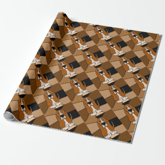 Adorable Basset Hound Dog Art Abstract Wrapping Paper