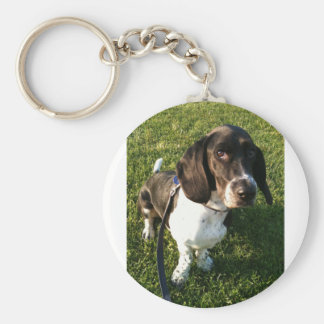Adorable Basset Hound Snoopy Key Ring