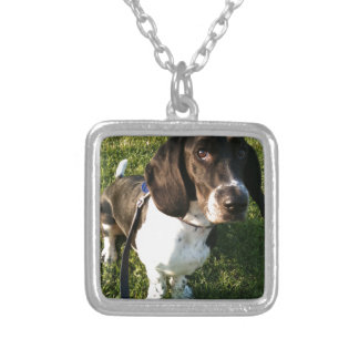 Adorable Basset Hound Snoopy Silver Plated Necklace
