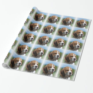 Adorable Beagle Dog Wrapping Paper