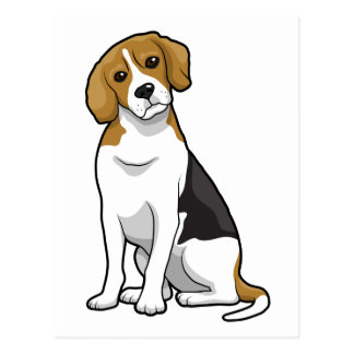 Adorable Beagle Postcard