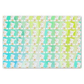 Adorable Bear Giraffe Watercolor Stripes Tissue Paper