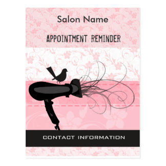 Adorable Beauty Salon Appointment Reminder Postcard