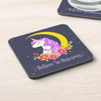 Adorable Believe in Unicorns | Coaster