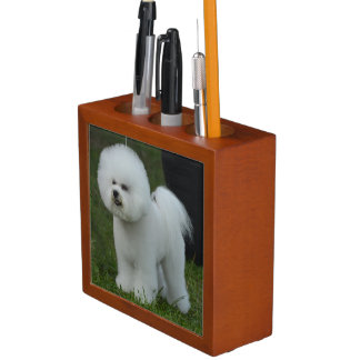 Adorable Bichon Desk Organiser