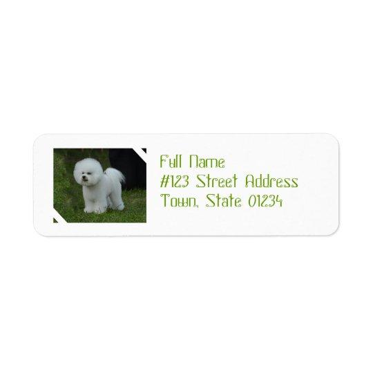 Adorable Bichon Return Address Label