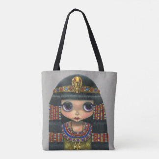 Adorable Big Eye Cleopatra Queen Girl Doll Tote Bag