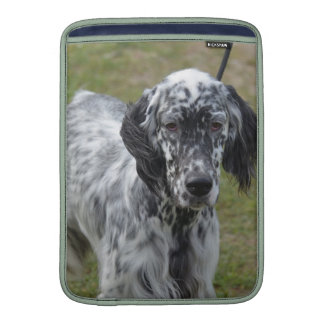 Adorable Black and White English Setter Sleeve For MacBook Air