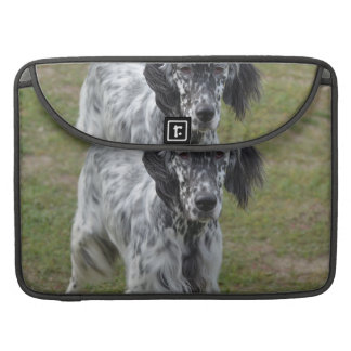 Adorable Black and White English Setter Sleeve For MacBooks