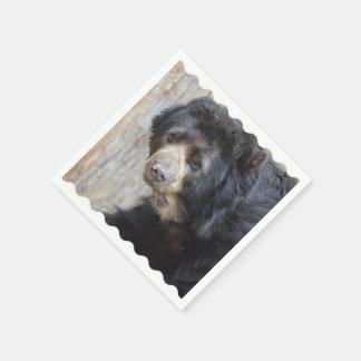 Adorable Black Bear Disposable Serviette