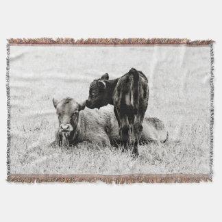 Adorable Black & White Cow Throw Blanket