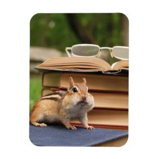 Adorable Book Loving Chipmunk Magnet