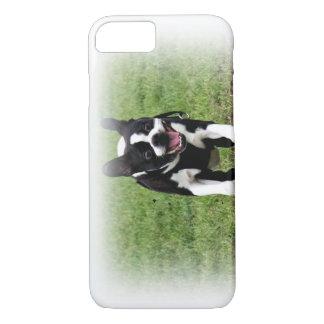 Adorable Boston Terrier running iPhone 7 case