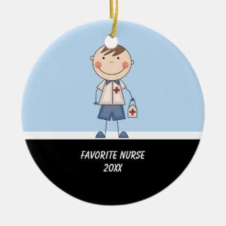 Adorable Boy Nurse Ornament