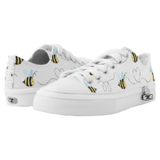 Adorable Bumble Bee Pattern Low Tops