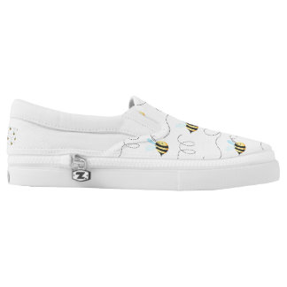 Adorable Bumble Bee Pattern Slip-On Shoes