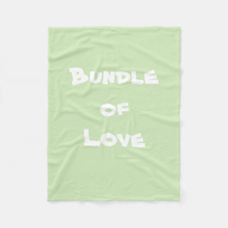 "Adorable ""Bundle of Love"" Baby Fleece Blankets"