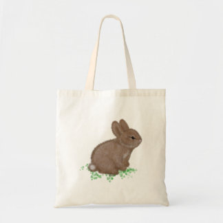 Adorable Bunny in Clover Tote Bag